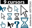 9 cursors. raster version. see more professional signs in my portfolio - stock vector