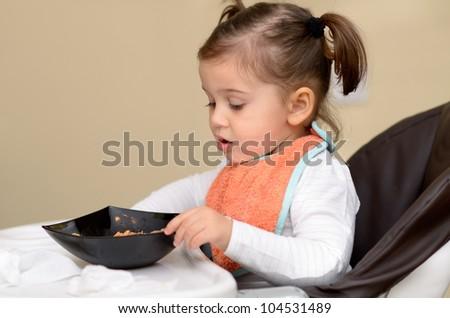 cute little girl eating