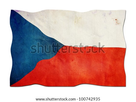 Czech Flag made of  Paper - stock photo
