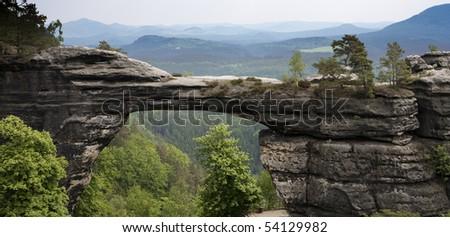 Czech-saxon switzerland - Pravcicka gate - stock photo