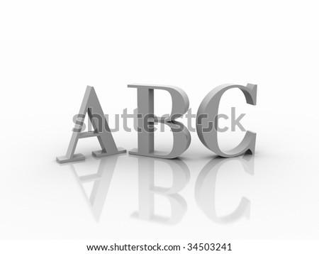 3D ABC - stock photo