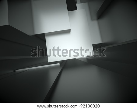 3d abstract architectural background - stock photo