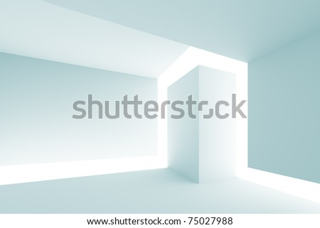 3d Abstract Architecture - stock photo