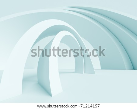 3d Abstract Architecture Background - stock photo