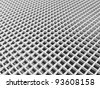 3d abstract architecture background. White square cellular lattice - stock photo