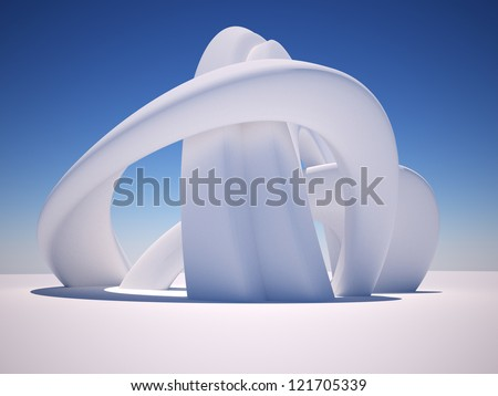 3d Abstract Architecture. 3d render illustration - stock photo