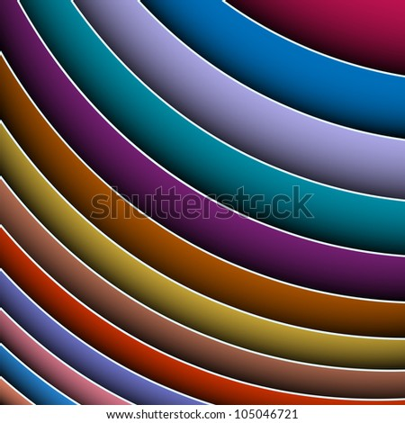 3d abstract background of colorful lines.Raster version - stock photo