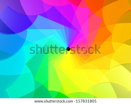 3d abstract background spiral of colors - stock photo