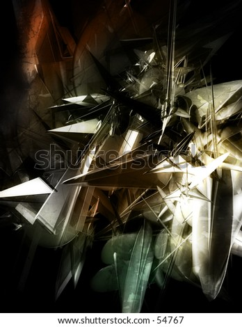 3D Abstract Background Two - stock photo