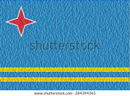 3D abstract background with flag of Aruba - stock photo