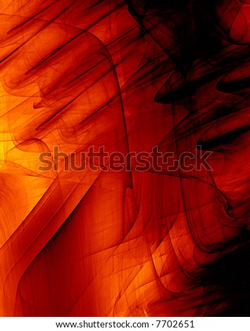 3d Abstract Background With High Detail- Red Paint