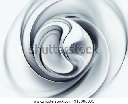 3d abstract background with white and black forms - stock photo