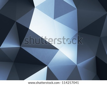 3d  abstract blue crystals backgrounds - stock photo