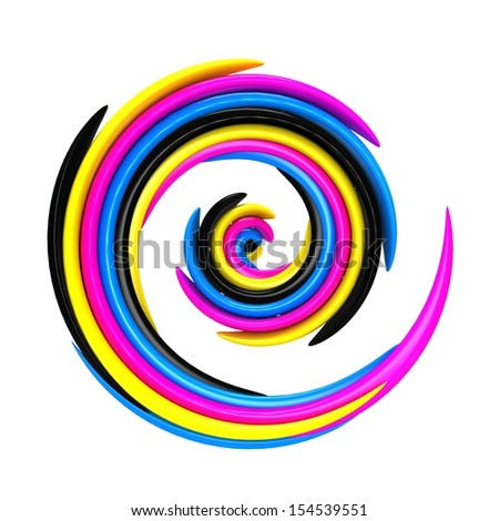 3d abstract cmyk background - stock photo