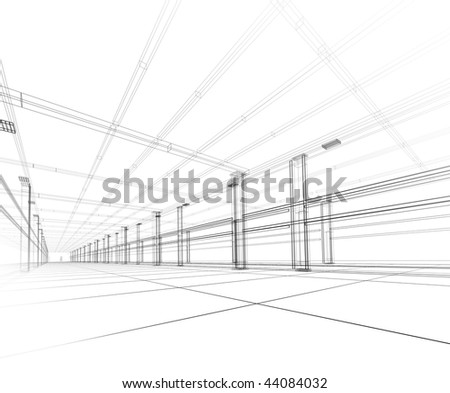 3D Abstract construction - stock photo