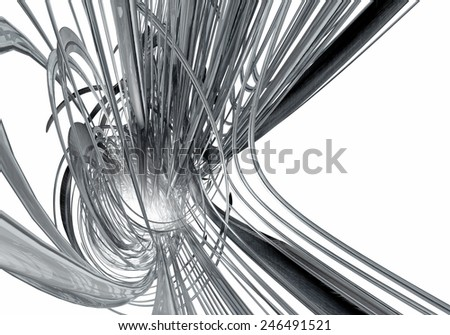 3D abstract design isolated on white  - stock photo