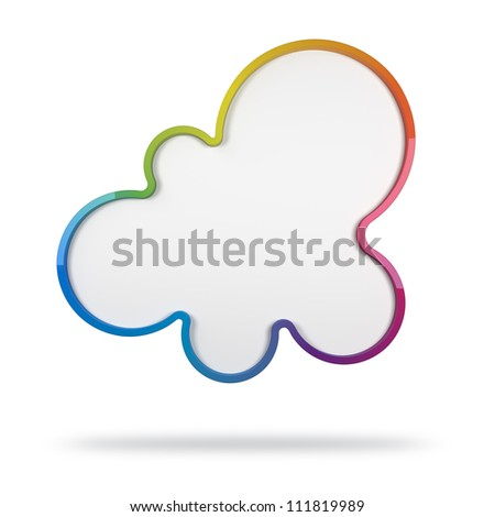 3d abstract design with colorful shape on white background - stock photo