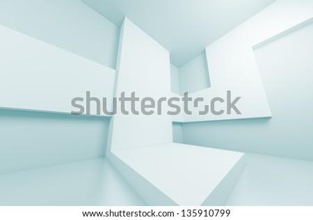 3d Abstract Futuristic Interior Concept - stock photo
