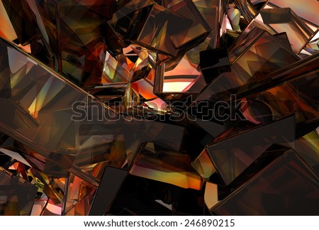 3D Abstract Glass Background - stock photo