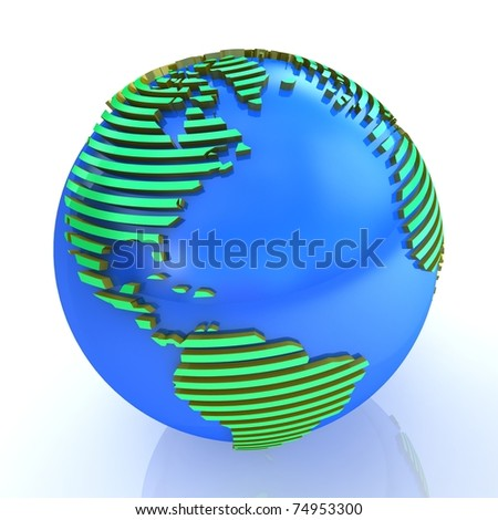 3d abstract globe.