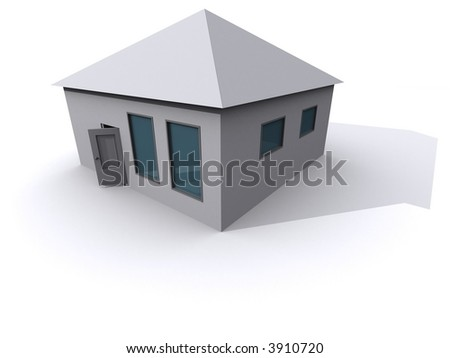 3d abstract home