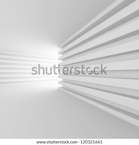 3d Abstract Interior Concept - stock photo