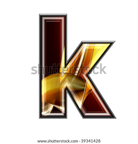 3d abstract letter with fractal texture - stock photo