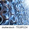 3D abstract mesh structure - stock photo