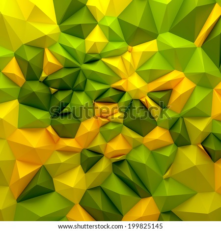 3d abstract modern geometrical green background - stock photo