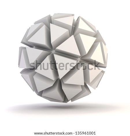 3d abstract object for your design - stock photo