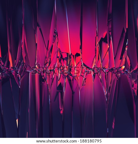3d abstract purple crystal background - stock photo