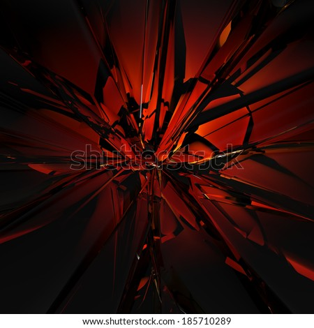 3d abstract red glass texture, faceted crystal background - stock photo