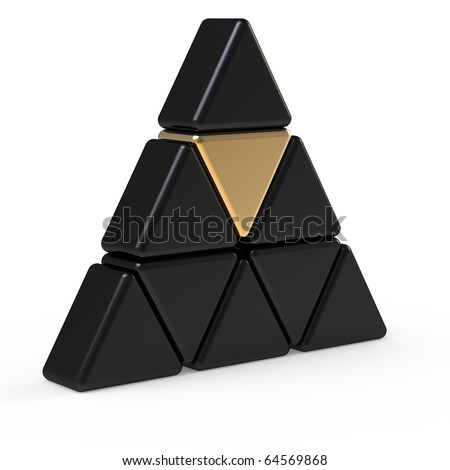 3d abstract triangle icon - stock photo