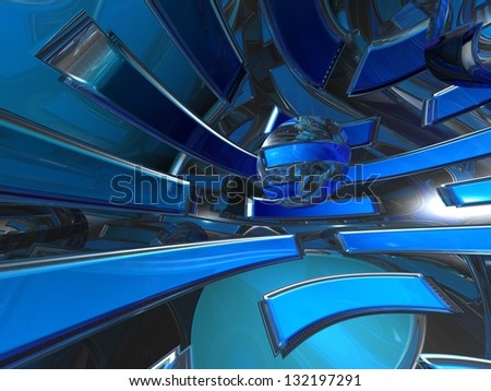 3d abstract wallpaper, background - stock photo