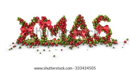 3D Abstract XMAS Christmas Logo  - stock photo
