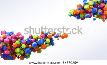3D abstraction background - stock photo