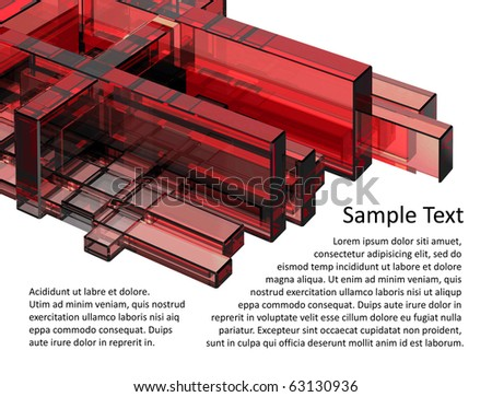 3D abstraction with empty space for your text - stock photo