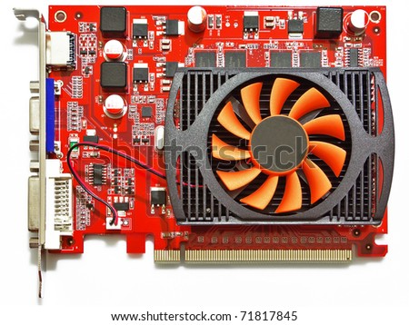 3D accelerator computer graphic card - stock photo