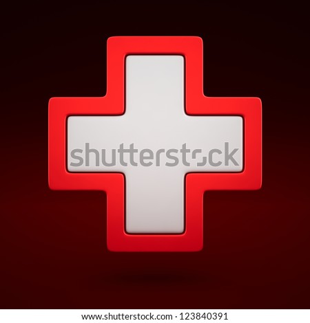 3d aid first sign - medical icon - stock photo