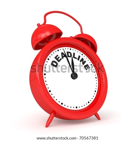 3d alarm-clock with DEADLINE - stock photo