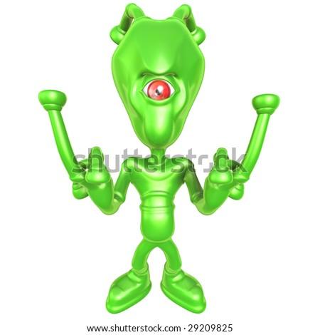 3D Alien - stock photo