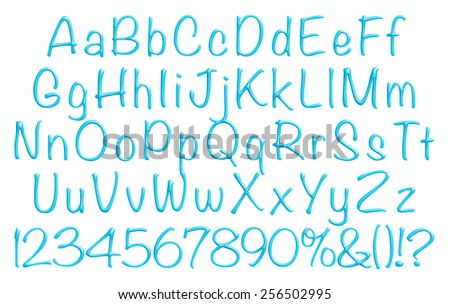 3D Alphabet Set on white background. - stock photo