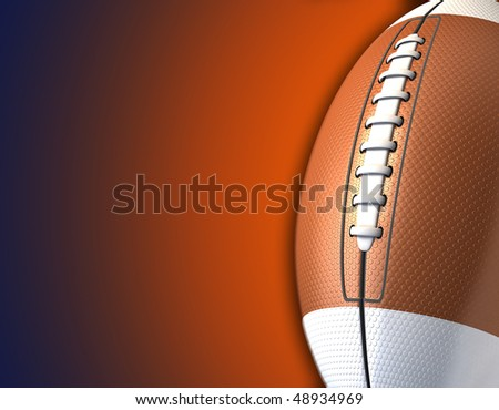3d  american football background - stock photo