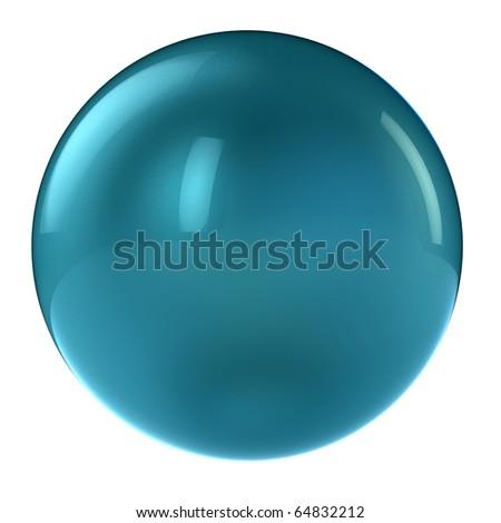 3d aqua sphere in studio environment isolated on white - stock photo