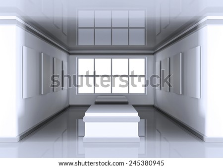 3d architectural background - stock photo