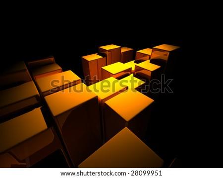 3d architectural design - stock photo