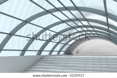 3d architecture - stock photo
