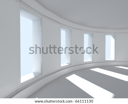 3d architecture of empty interior - stock photo