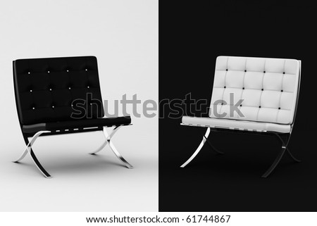 3d armchair, studio shot - stock photo