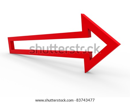 3d arrow red up way icon sign growth